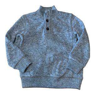 Gymboree Blue Heathered Pull on Boys Sweater XS